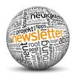 Newsletter, Aktuelles, Neu, Kugel, 3D, wordcloud, tagcloud, SEO