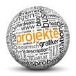 Projekte, Webdesign, www, Kugel, 3D, wordcloud, tagcloud, SEO