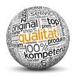 Qualität, Kompetenz, 100%, Kugel, 3D, wordcloud, tagcloud, SEO
