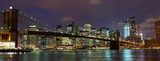 Fototapety New York City  Brooklyn Bridge panorama at dusk