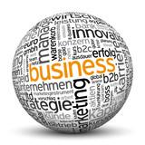Business, B2B, B2C, Kugel, 3D, wordcloud, tagcloud, SEO, Web, IT poster