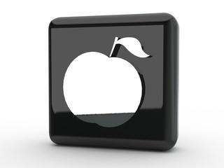 Button Apfel schwarz