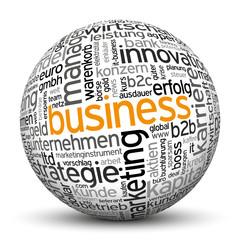 Business, B2B, B2C, Kugel, 3D, wordcloud, tagcloud, SEO, Web, IT
