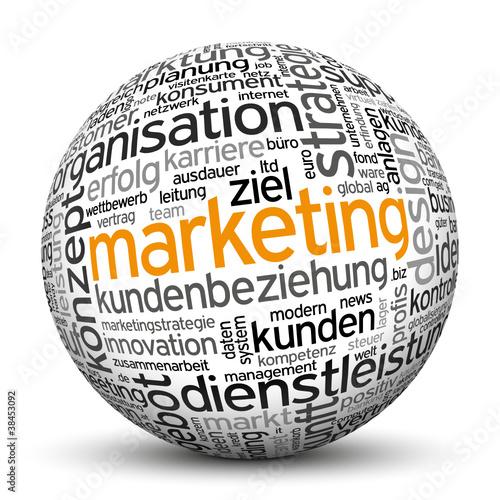Marketing, Kunden, Werbung, Kugel, 3D, wordcloud, tagcloud, SEO