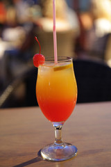 colourful drink into the summer evening