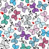 Floral valentine pattern
