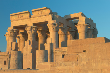 Temple of Kom Ombo in sunset light ( Egypt )