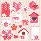 Fototapety Vector scrapbook elements - love set