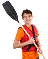 Guy with an oar