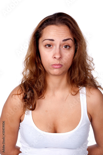 woman, portrait, studio, emotion