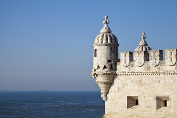Belem Tower or Tower of St Vincent,  Lisbon, Portugal, Europe