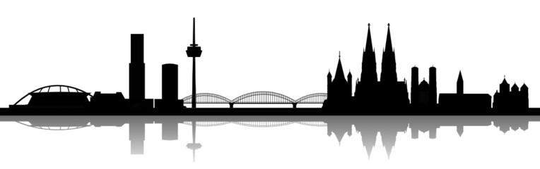 Köln mit Rheinbrücke
