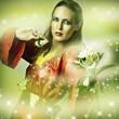 Fashion fantasy portrait of magic woman