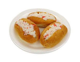Three Crabmeat Filled Finger Rolls