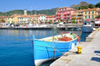 Leinwandbild Motiv in Porto Azzurro auf der Insel Elba