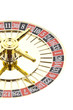 Beautiful gold roulette on a white background