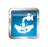 Hand washing Icon poster