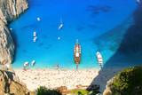 Navagio Beach with shipwreck in Zakynthos, Greece