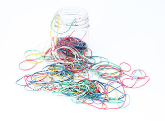 colorful rubber bands out of the box
