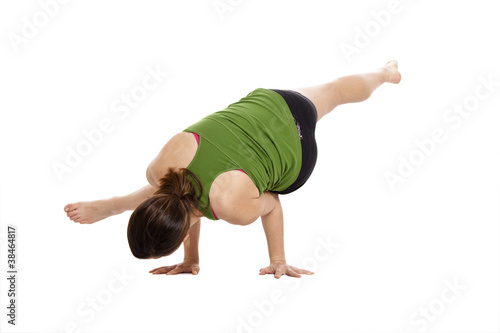 woman balancing  for yoga