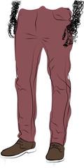 Fashion Illustrate pants