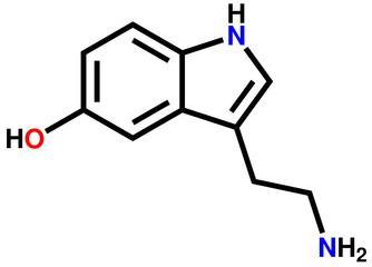 Serotonin structural formula