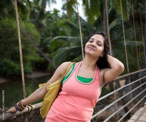 Young girl enjoying nature