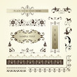 Vector set of ornate page decor elements