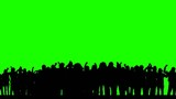 Dancing crowd (green screen) - silhouettes