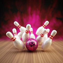 Bowling Strike pink