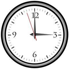 Uhr - Uhrzeit 3 am / pm