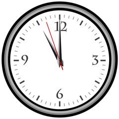 Uhr - Uhrzeit 11 am / pm