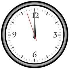Uhr - Uhrzeit 12 am / pm