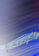 Fondo musica blu