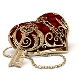 Fototapety heart and key girl