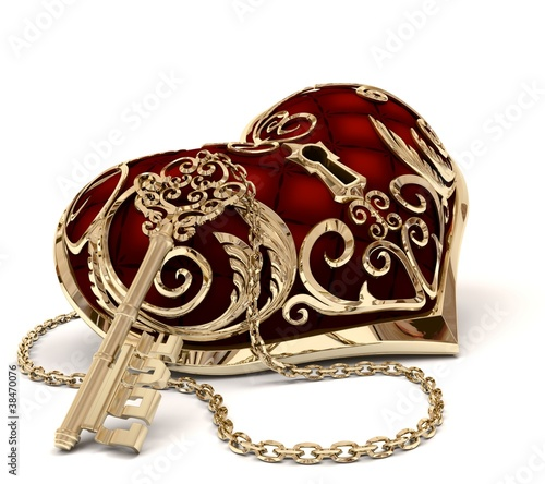 heart and key girl