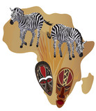 Zebras and African Masks