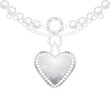 Silver heart with diamonds and strasses