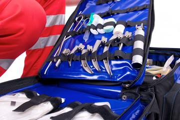 Notarztrucksack mit Intubationsbesteck