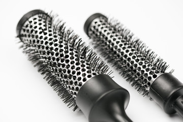 a new hair brush in detail