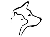 cat and dog heads logo