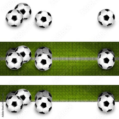 3x Fußball - Banner/Footer/Leiste