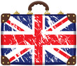Travel bag with a British flag