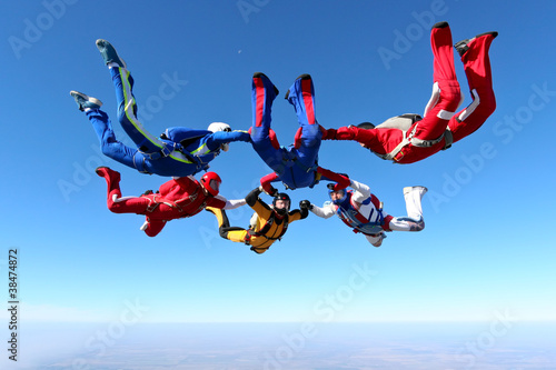Foto op Plexiglas Luchtsport Skydiving photo
