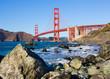 Golden Gate Bridge in San Francisco on a sunny day