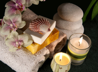 Spa accessories with candles