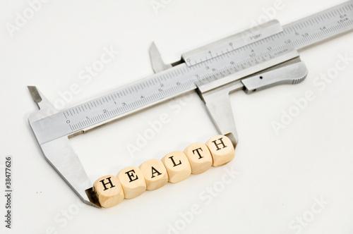 Leinwandbild Motiv health messen überprüfen