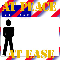 at ease soldier illustration