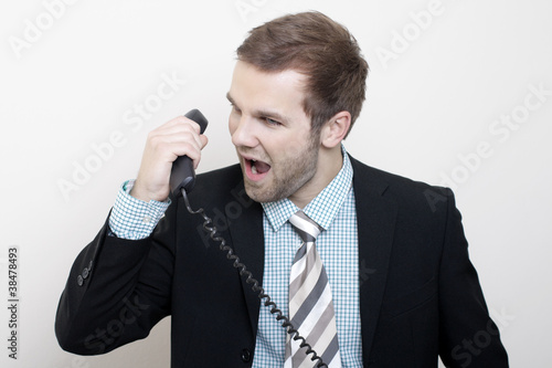 The manager on the phone
