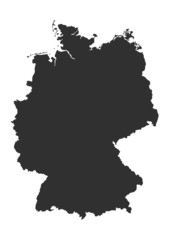 Detaillierte Deutschlandkarte